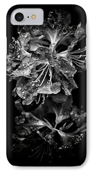 IPhone Case featuring the photograph Backyard Flowers In Black And White 1 After The Storm by Brian Carson
