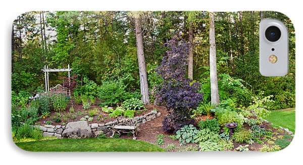 Loon iPhone 7 Case - Backyard Garden In Loon Lake, Spokane by Panoramic Images