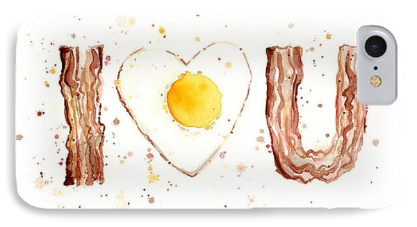 Bacon And Egg I Love You IPhone Case by Olga Shvartsur