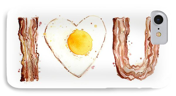 Bacon And Egg Love IPhone Case by Olga Shvartsur