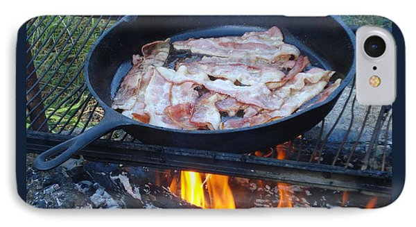 Bacon On The Campfire IPhone Case by Patricia Overmoyer