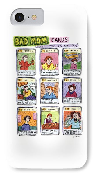Bad Mom Cards Collect The Whole Set IPhone Case