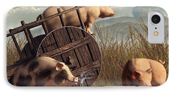 Bad Pigs Phone Case by Daniel Eskridge