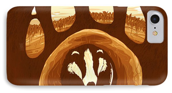Badger Paw IPhone Case by Daniel Hapi