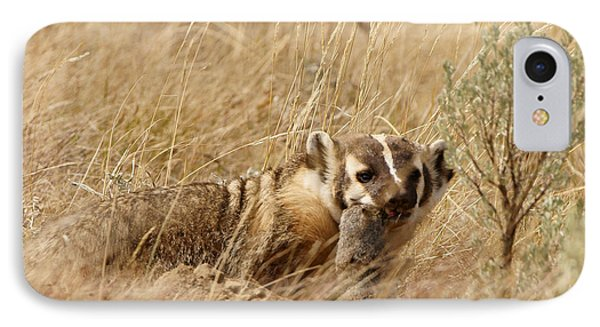Badger With Prey IPhone Case by Jeremy Farnsworth