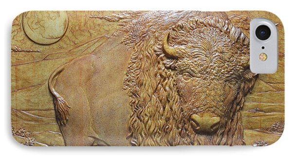 Badlands Bull Phone Case by Jeremiah Welsh