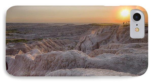Badlands Overlook Sunset IPhone Case by Adam Romanowicz