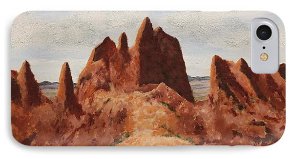 Badlands Pinnacles IPhone Case by Alan Mager