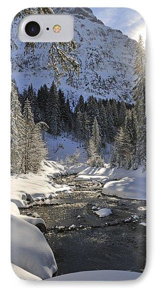 Baergunt Valley Kleinwalsertal Austria In Winter Phone Case by Matthias Hauser