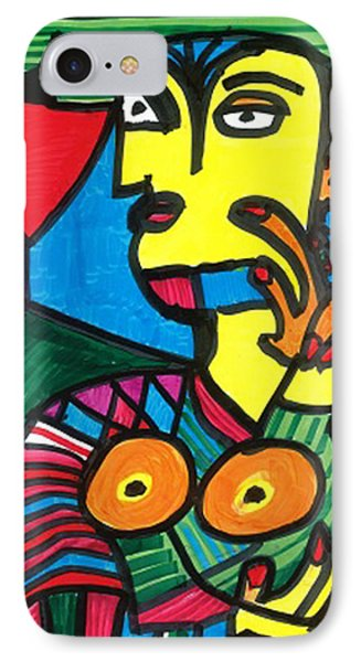IPhone Case featuring the drawing Bagel Lady by Don Koester