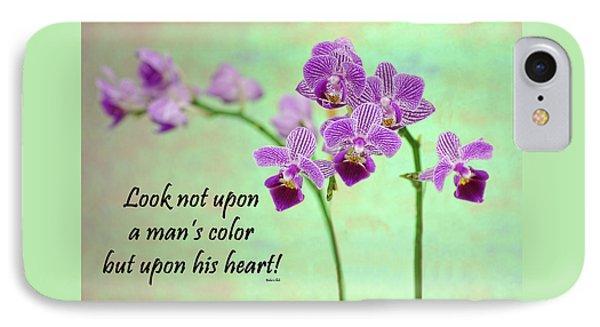 Bahai Purple Orchid Quote IPhone Case