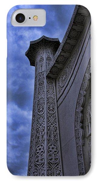IPhone Case featuring the photograph Bahai Temple Detail At Dusk II by John Hansen