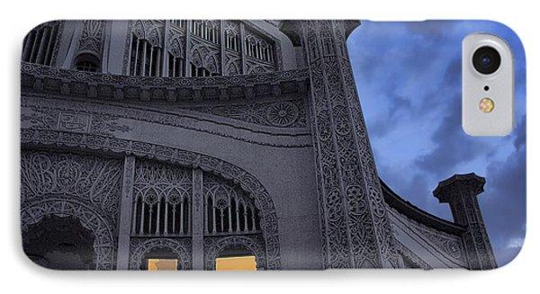 IPhone Case featuring the photograph Bahai Temple Detail At Dusk by John Hansen