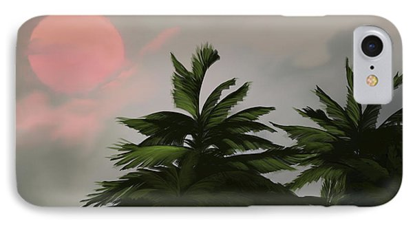 Sun Tropical Palm Breeze IPhone Case by Anthony Fishburne