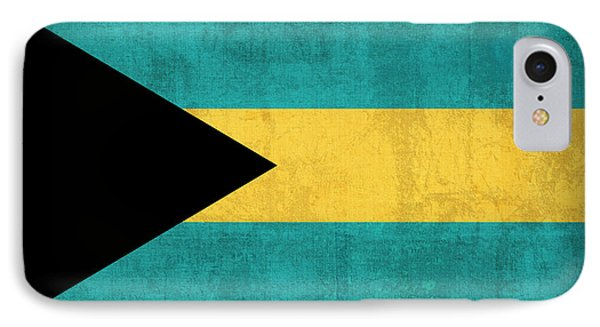 Bahamas Flag Vintage Distressed Finish IPhone Case by Design Turnpike