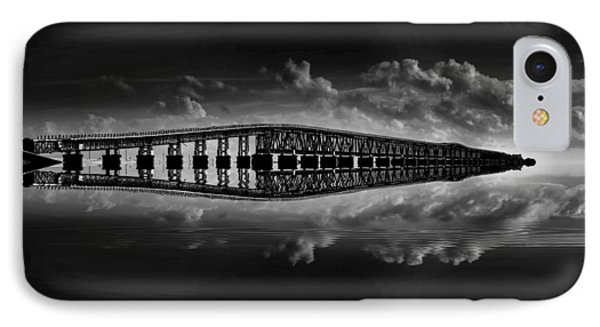 Bahia Honda Bridge Reflection IPhone Case by Kevin Cable
