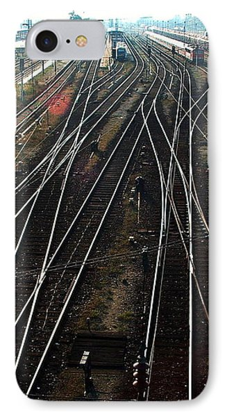IPhone Case featuring the photograph Bahnhof Cottbus by Marc Philippe Joly