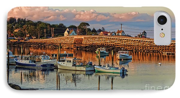 Bailey Island Bridge At Sunset IPhone Case by Patrick Fennell