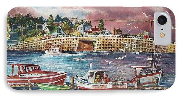 Bailey Island Cribstone Bridge Phone Case by Joy Nichols