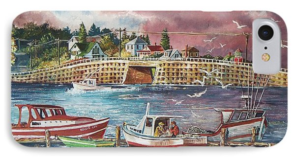 Bailey Island Cribstone Bridge IPhone Case by Joy Nichols