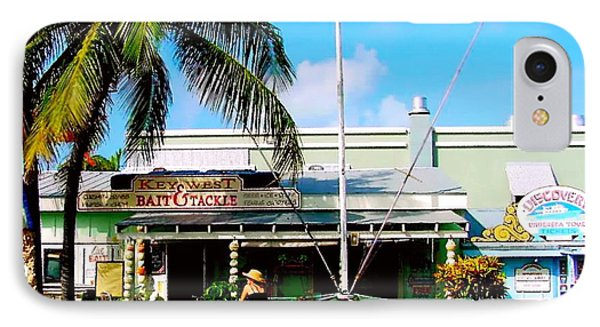 Bait And Tackle Key West Phone Case by Iconic Images Art Gallery David Pucciarelli