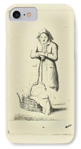 Baker With Basket Of Breads, Marie Lambertine Coclers IPhone Case by Marie Lambertine Coclers
