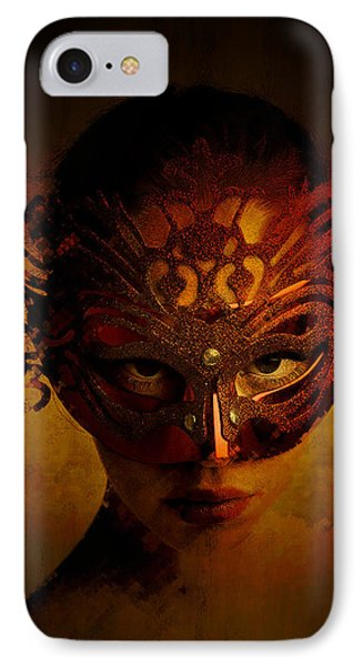 IPhone Case featuring the digital art Bal Masque by Galen Valle