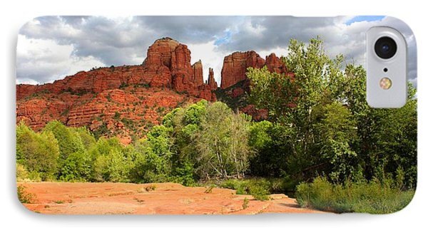 Balance At Cathedral Rock IPhone Case by Carol Groenen