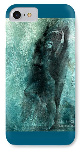 IPhone Case featuring the drawing Balance With Mood Texture by Paul Davenport