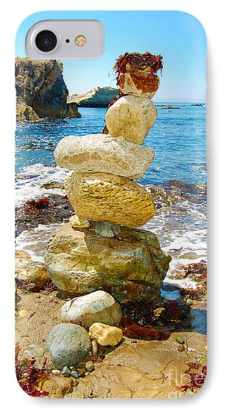 Balanced Beach Rock Stack IPhone Case