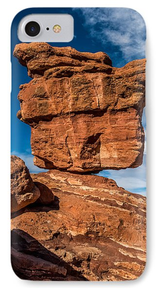 Balanced Rock Garden Of The Gods IPhone Case by Paul Freidlund