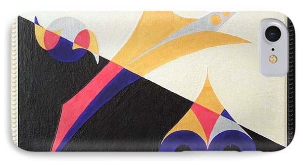 IPhone Case featuring the painting Balancing Act by Ron Davidson