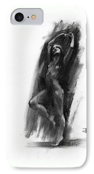 IPhone Case featuring the drawing A Dance Of Balance by Paul Davenport