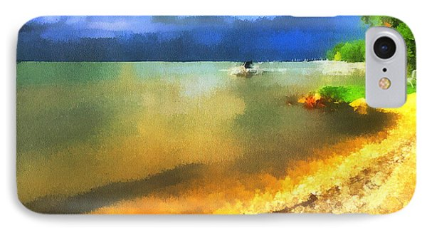Balaton Shore IPhone Case by Odon Czintos