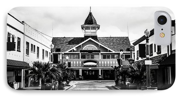 Balboa California Main Street Black And White Picture Phone Case by Paul Velgos
