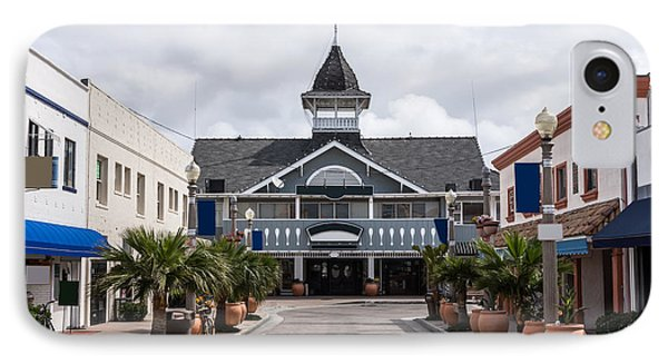 Balboa Downtown Main Street In Newport Beach Phone Case by Paul Velgos