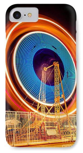 Balboa Fun Zone Ferris Wheel At Night Picture IPhone Case by Paul Velgos