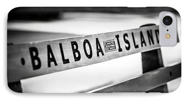 Balboa Island Bench In Newport Beach California IPhone Case by Paul Velgos