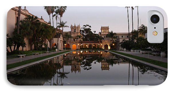 IPhone 7 Case featuring the photograph Balboa Park Reflection Pool by Nathan Rupert