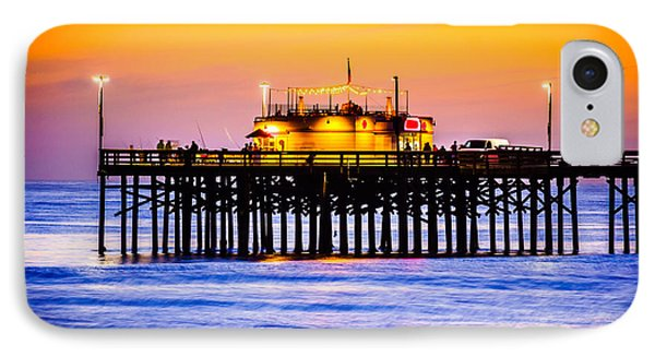 Balboa Pier At Sunset Picture IPhone Case by Paul Velgos