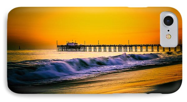 Balboa Pier Picture At Sunset In Orange County California Phone Case by Paul Velgos