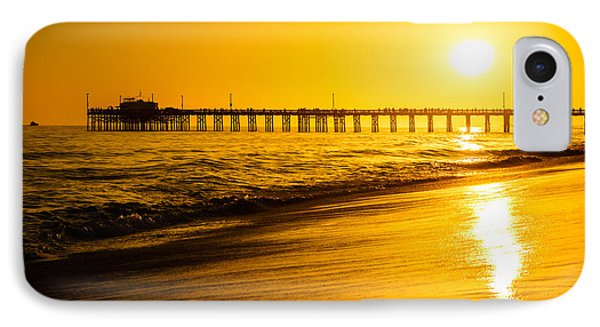 Balboa Pier Sunset In Orange County California Picture IPhone Case by Paul Velgos