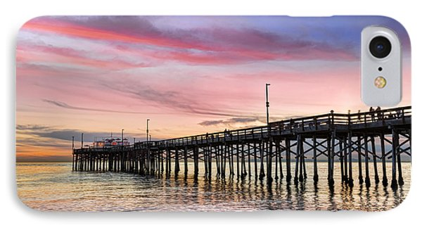 Balboa Pier Sunset Phone Case by Kelley King