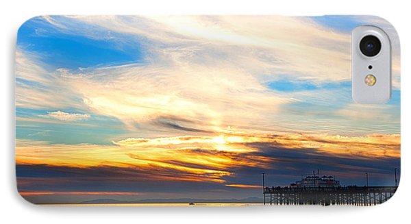 Balboa Pier Sunset Landscape Hdr IPhone Case by Chris Brannen