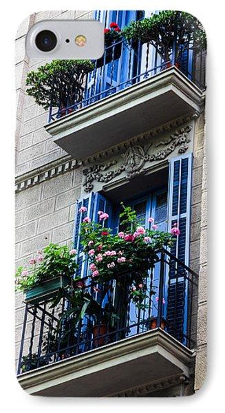 Balconies In Bloom IPhone Case by Menachem Ganon