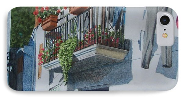Balcony In Maratea IPhone Case