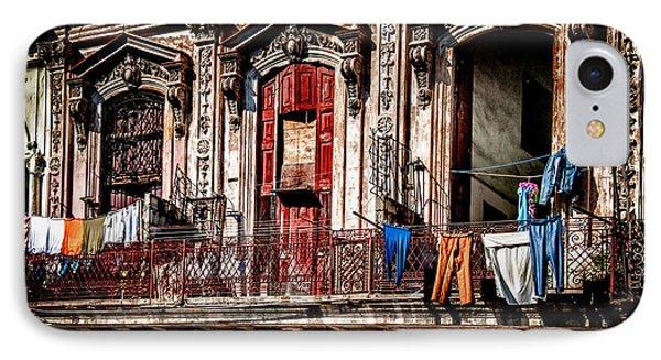 Balcony In Old Havana  IPhone Case by Patrick Boening