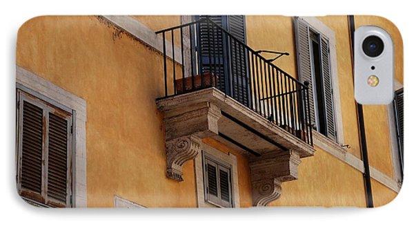 Balcony Piazza Della Madallena In Roma IPhone Case by Dany Lison