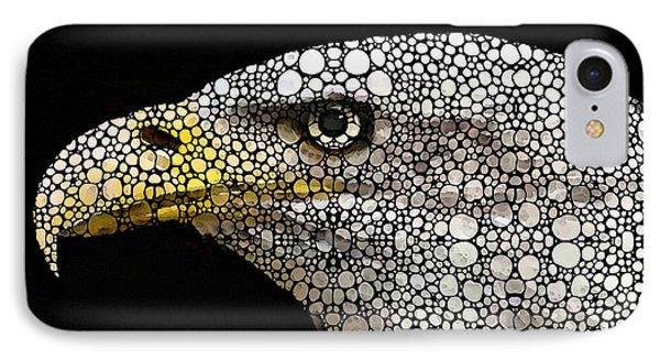 Bald Eagle Art - Eagle Eye - Stone Rock'd Art IPhone Case