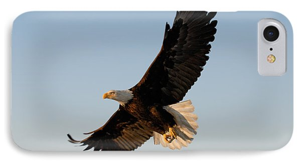 Bald Eagle Flying With Fish In Its Talons Phone Case by Stephen J Krasemann